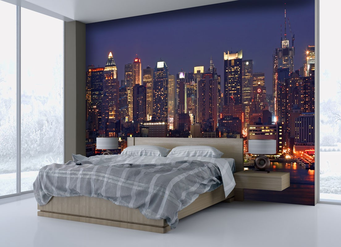 Papier peint new york with chambre deco new york ado for Chambre a coucher decoration